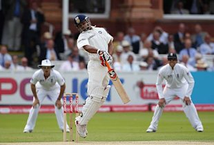Raina kept India afloat through the noon session in which they lost Tendulkar. 