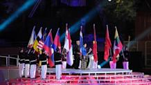 Inasoc chairwoman Rita Subowo (C) at the 26th SEA Games closing ceremony on Tuesday