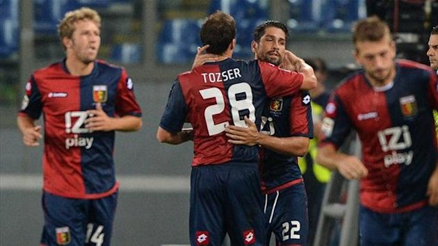 Marco Borriello scores for Genoa (AFP)