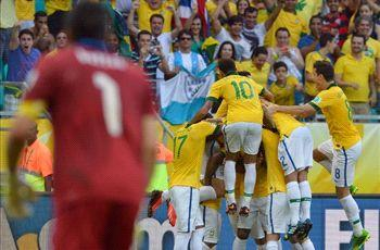 Italy 2-4 Brazil: Fred fires Selecao to top spot in Group A