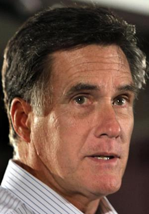 Republican presidential candidate former Massachusetts Gov. Mitt Romney speaks during a campaign stop at the Derry-Salem Elks Lodge 2226, Monday, Oct. 3, 2011, in Salem, N.H. (AP Photo/Jim Cole)