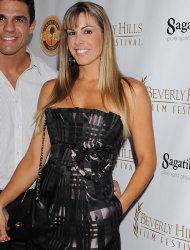 Conhecida no Brasil como Feiticeira, Joana Prado é esposa do brasileiro Vitor Belfort. Para os estrangeiros, foi eleita algumas  vezes como a mais bela mulher de lutadores do UFC (Foto: Getty Images)