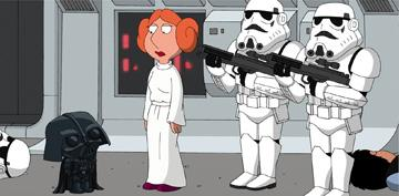 The gang from 'Family Guy' spoofs 'Star Wars' in Fox Home Entertainment's Family Guy Presents Blue Harvest