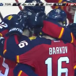 Aaron Ekblad Goal on Jonathan Bernier (13:12/2nd)
