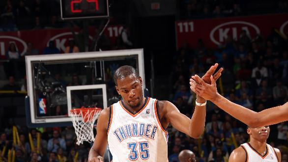 Durant leads Thunder past Kings
