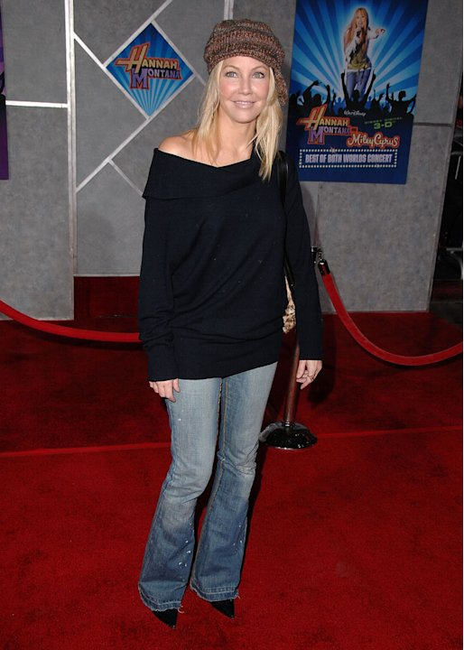 Heather Locklear arrives at Disney's Premiere of 'Hannah Montana &amp; Miley Cyrus: Best Of Both Worlds' held at the El Capitan Theatre on January 17, 2008 in Hollywood, California. 