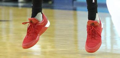 James Harden Made His adidas Debut in a Pair of Boost Sneakers Last Night