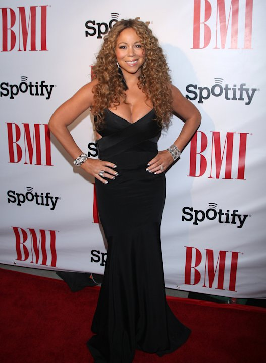 IMAGE DISTRIBUTED FOR BMI-Mariah Carey at the 2012 BMI Urban Awards on Friday, Sept. 7, 2012, in Beverly Hills, Calif. (Photo by Arnold Turner/Invision for BMI/AP Images)