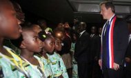 Cameron In Liberia To Co-Chair UN Meeting