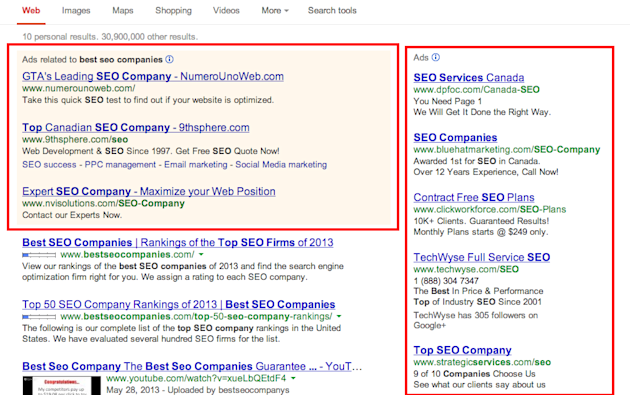 Why Google Is Missing The Point On Sponsored Content image best seo companies Google Search