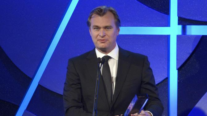 Christopher Nolan accepts Art Directors Guild Outstanding Contribution to Cinematic Imagery Award at 19th annual Art Directors Guild Excellence in Production Design awards in Beverly Hills, California