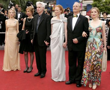 Pell James, director Jim Jarmusch, Tilda Swinton, Bill Murray and Julie DelpyBroken Flowers Premiere Cannes Film Festival - 5/17/05