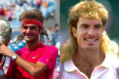 What all your favorite tennis stars look like with 90s Andre Agassi hair
