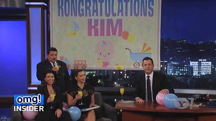 Kim Kardashian's First Baby Shower… on 'Kimmel'