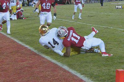 A blown replay gave Notre Dame a touchdown that actually helped Stanford win the game