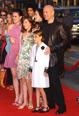 Premiere: Brooke Burns, Bruce Willis, Tallulah Belle Willis and family at the world premiere of Warner Brothers' The Whole Ten Yards - 4/7/2004