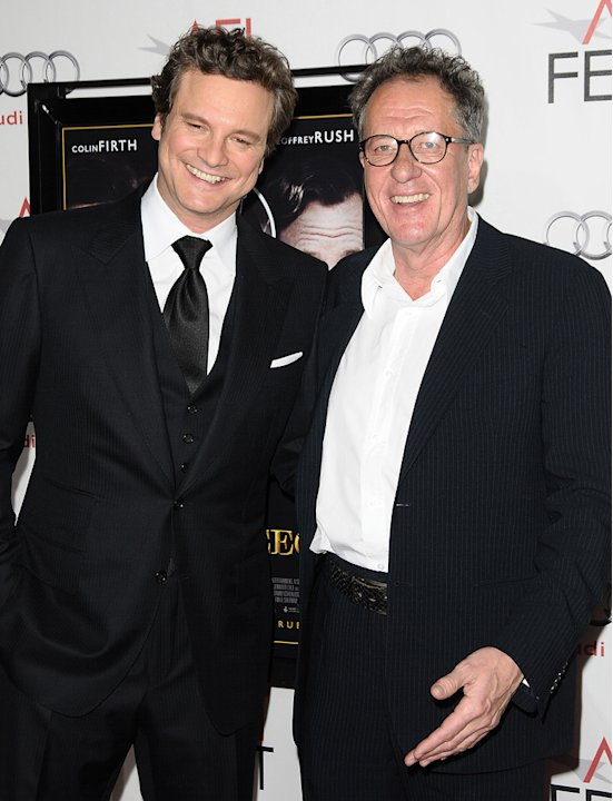2010 AFi Fest Colin Firth Geoffrey Rush
