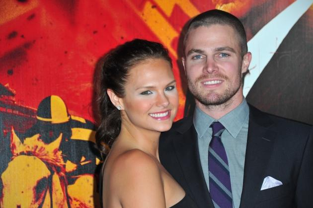 Cassandra Jean and Stephen Amell arrive to the premiere of HBO's  'Luck' at Grauman's Chinese Theatre on January 25, 2012 in Hollywood -- Getty Premium