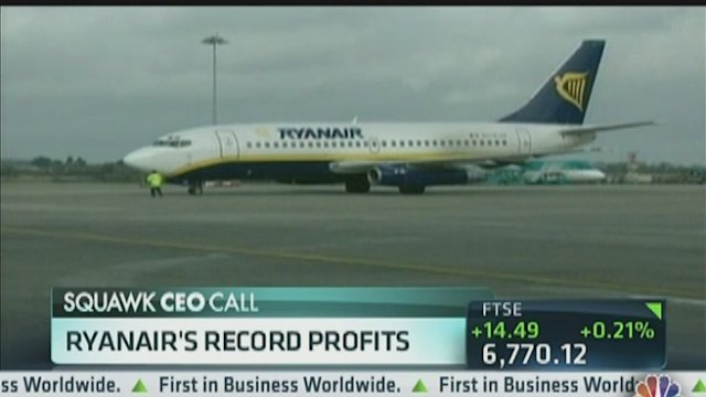 Ryanair Posts Record Profits