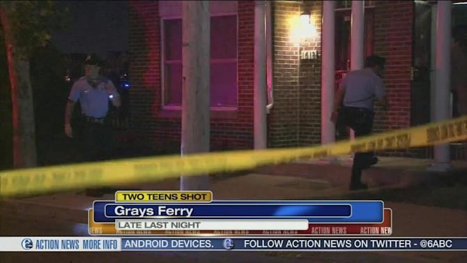 Gunman sought after 2 teens shot in Grays Ferry