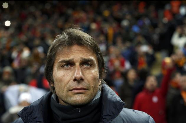 Juventus coach Conte looks on before the match against Galatasaray in their Champions League soccer match in Istanbul