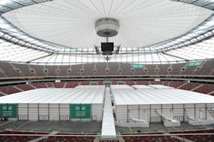 Special halls are set on the pitch of the National…