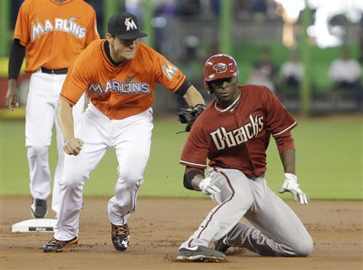 Nolasco fans 11 D-backs, Marlins end 7-game skid