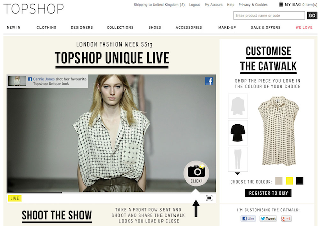 Millions Watch Online Video of Topshop London Fashion Week Show