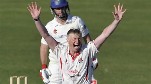 Glen Chapple claimed four wickets as Lancashire recorded a 14-run victory over Glamorgan