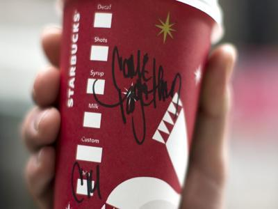 Starbucks Cups: Mocha With a Message