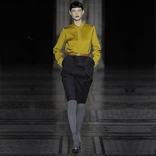 Nicole Farhi AW12 Catwalk: Mustard Fashion Trend