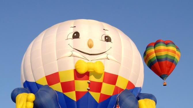 Albuquerque International Balloon Fiesta - Morning Ascent  - October 8, 2005