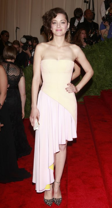 """Actress Marion Cotillard arrives at the Metropolitan Museum of Art Costume Institute Benefit celebrating the opening of """"PUNK: Chaos to Couture"""" in New York"""