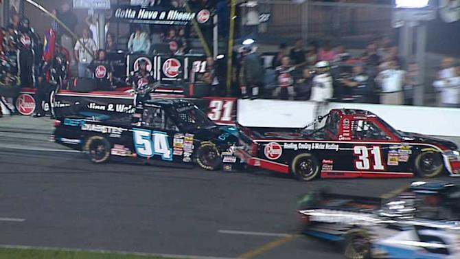 Wallace Jr, Buescher wreck on pit road