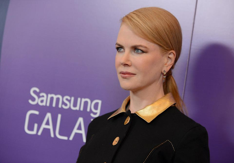 Actress Nicole Kidman arrives at Variety's 5th Annual Power of Women event at the Beverly Wilshire Hotel on Friday, Oct. 4, 2013, in Beverly Hills, Calif. (Photo by Jordan Strauss/Invision/AP)