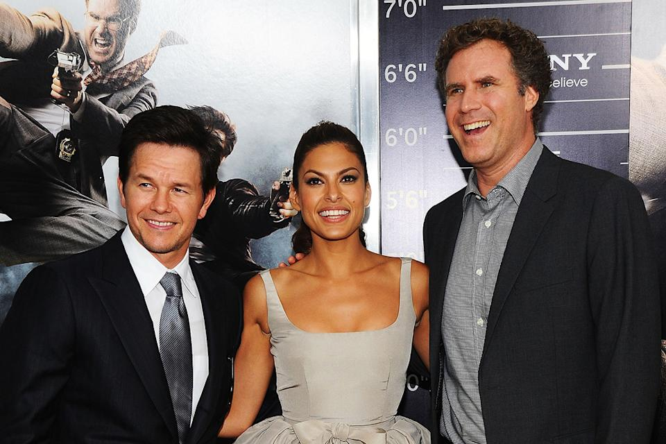 The Other Guys NYC Premiere 2010 Mark Wahlberg Eva Mendes Will Ferrell
