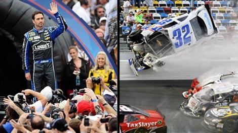 Jimmie Johnson and Nationwide crash