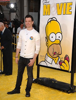 J C Chasez at the Los Angeles premiere of 20th Century Fox's The Simpsons Movie