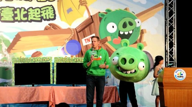 """Angry Birds"" maker Rovio is launching a new title Thursday allowing users to play the ""Bad Piggies"" from the smash-hit game, and take revenge on the birds who attacked them. Duration: 00:33."
