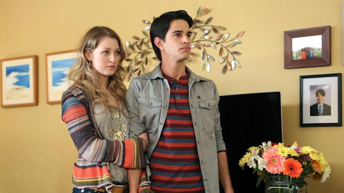 """This publicity image released by NBC shows Ella Rae Peck as Molly Yoder, left, and Joey Haro as Junior Hernandez in """"Welcome to the Family."""" NBC says it's canceling two freshman shows, """"Ironside"""" and """"Welcome to the Family."""" """"Parks and Recreation"""" episodes and specials will fill in for the departed """"Welcome to the Family,"""" the network said Friday, Oct. 18, 2013. (AP Photo/NBC, Adam Taylor)"""