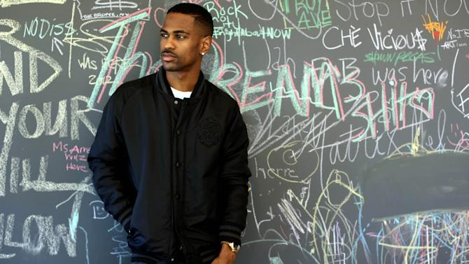 "In this Friday, Aug. 16, 2013 photo, Big Sean poses for a portrait at Island Def Jam in Santa Monica, Calif. The rapper releases a new album, ""Hall of Fame,"" on Aug. 27, 2013. (Photo by Matt Sayles/Invision/AP)"