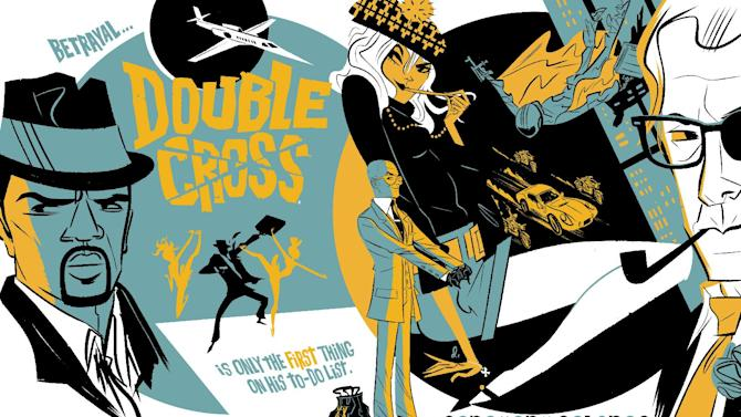"""This comic image released by OFFSET LAB, Inc., shows an issue of """"Doublecross.""""  The imprint is making its debut at New York Comic Con this week, touting three offerings _ """"Destroy,"""" """"Doublecross"""" and """"Deathface"""" _ with more on the horizon. Thanks to the proliferation of digital comics as a medium, people _ whether readers, creators, comics fans or other _ no longer have to worry about rules like 22-pages in a comic or a certain number of colors or even the size of a page on which to draw. (AP Photo/OFFSET LAB, Inc)"""