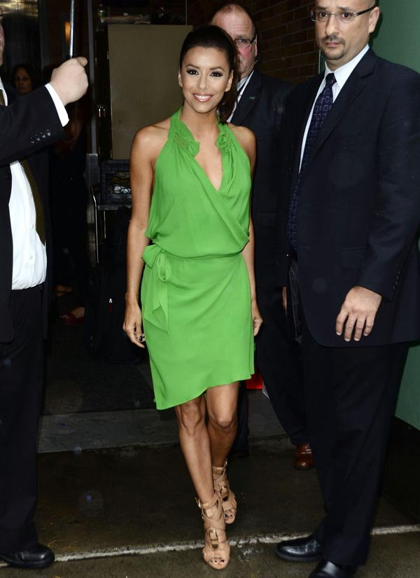 Eva Longoria Glams It Up In Green — Love It Or Loathe It?