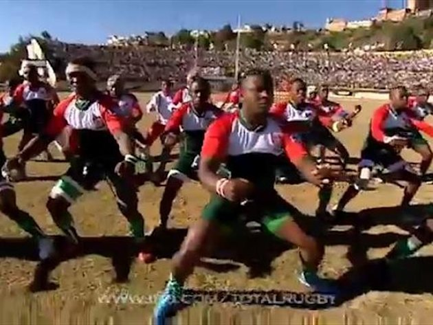 Madagascan team perform own 'Haka'