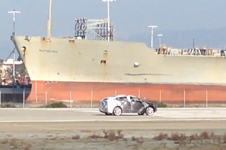 Tesla Model X Caught Testing in the Open