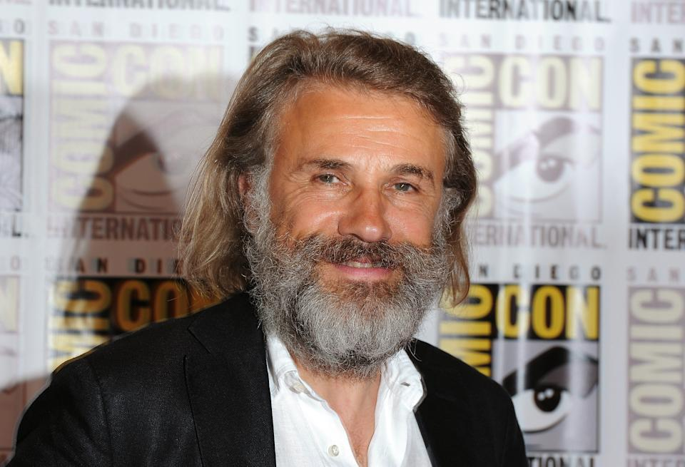 "Christoph Waltz poses at the ""Django Unchained"" press line at Comic Con, Saturday, July 14, 2012, in San Diego. (Photo by Jordan Strauss/Invision/AP)"
