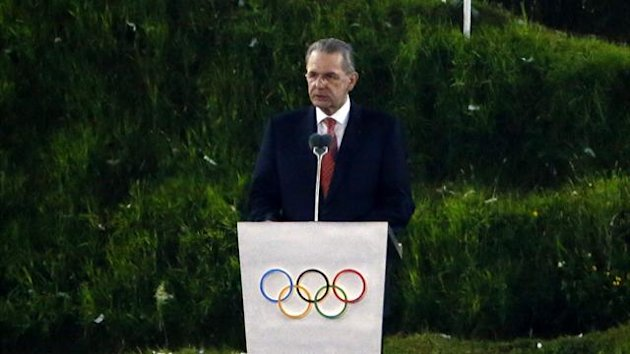 International Olympic Committee (IOC) President Jacques Rogge gives a speech during the opening ceremony of the London 2012 Olympic Games at the Olympic Stadium (Reuters)