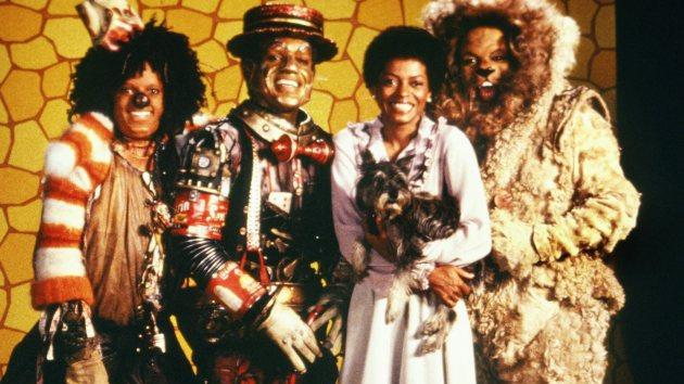 The cast of 'The Wiz' (L-R Michael Jackson, Nipsey Russell, Diana Ross and Ted Ross) pose for a publicity shot in 1978 -- Getty Images