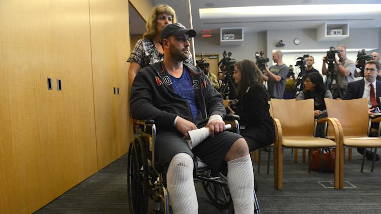 Boston Bombing Victim Speaks On His Recovery From Hospital