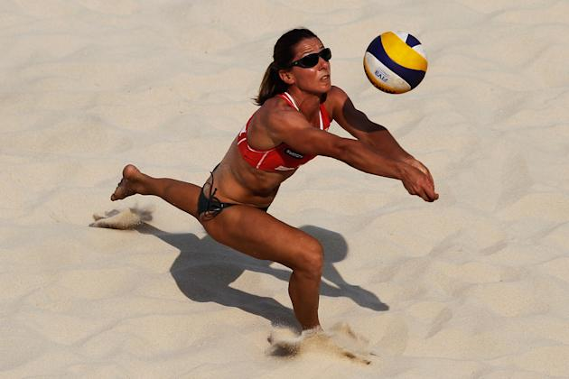 Annie Martin of the Canadian Olympic beach volleyball team